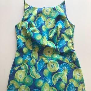 Laundry 90's Vintage Sundress Mini Picnic Lemons
